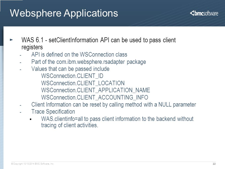 Websphere Applications
