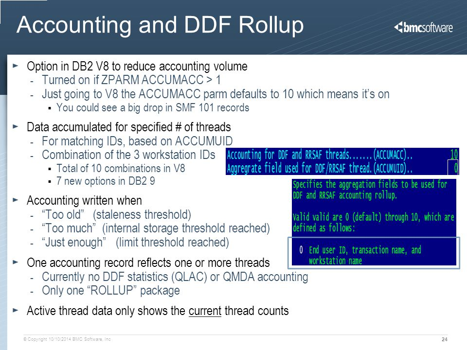 Accounting and DDF Rollup