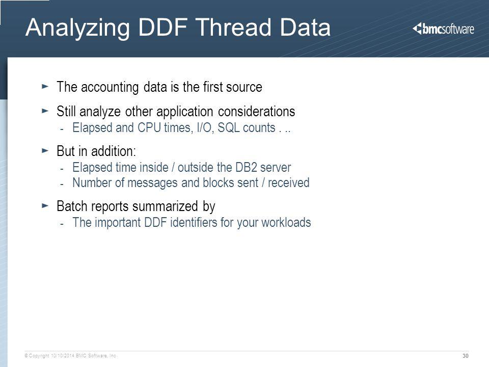 Analyzing DDF Thread Data