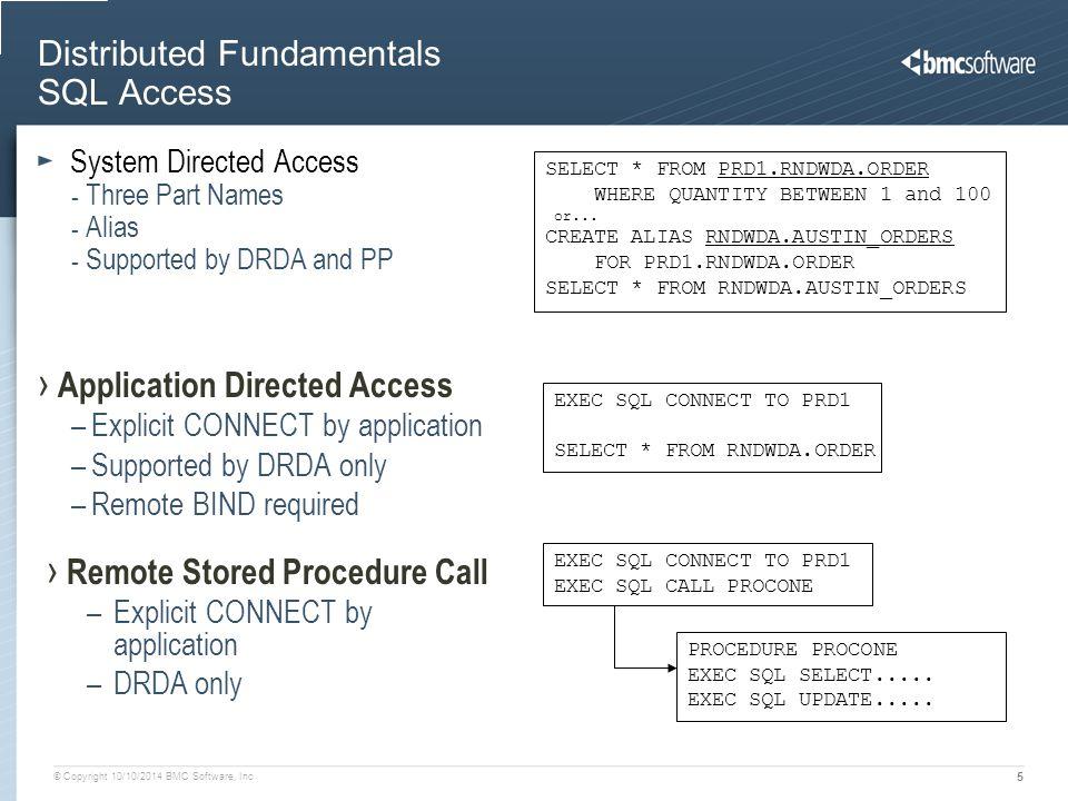 Distributed Fundamentals SQL Access