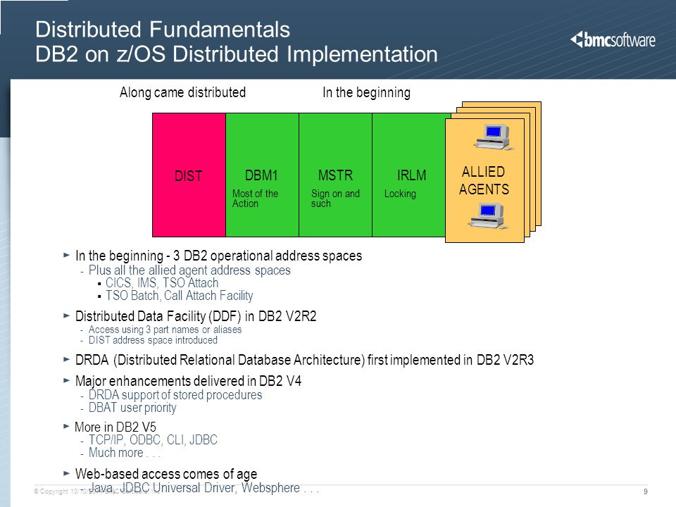 Distributed Fundamentals DB2 on z/OS Distributed Implementation