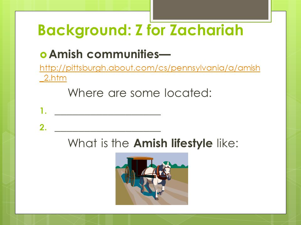Background: Z for Zachariah