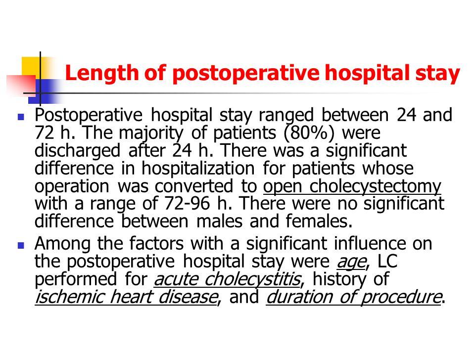 Length of postoperative hospital stay