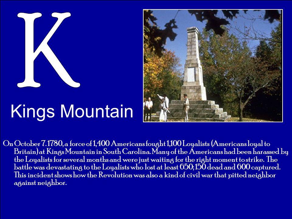 K Kings Mountain.