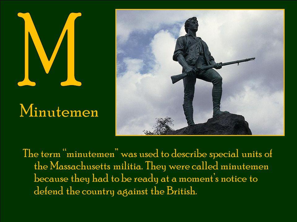 M Minutemen.
