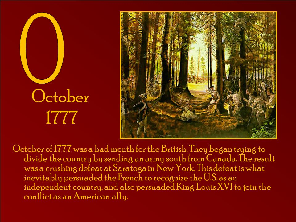 O October 1777.