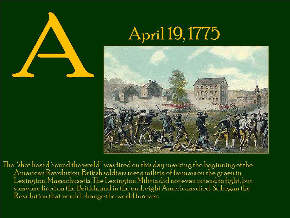 A April 19, 1775.