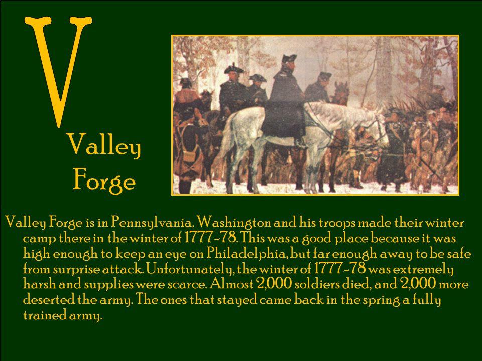 V Valley Forge.