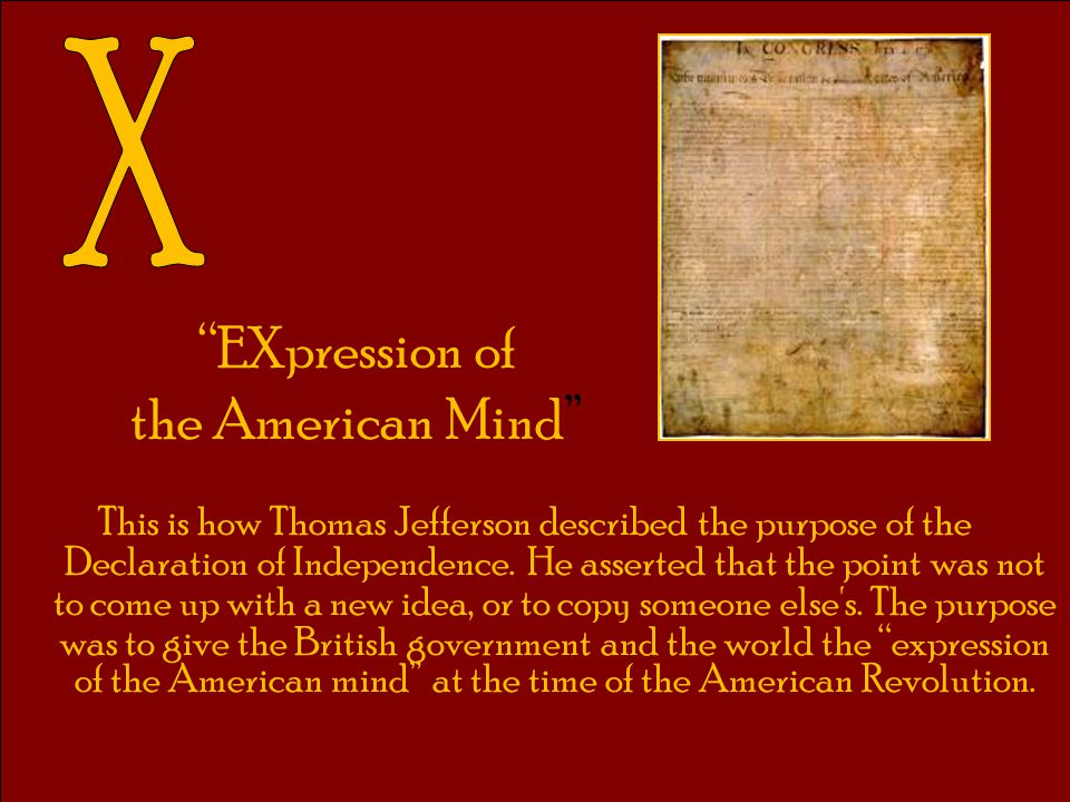EXpression of the American Mind