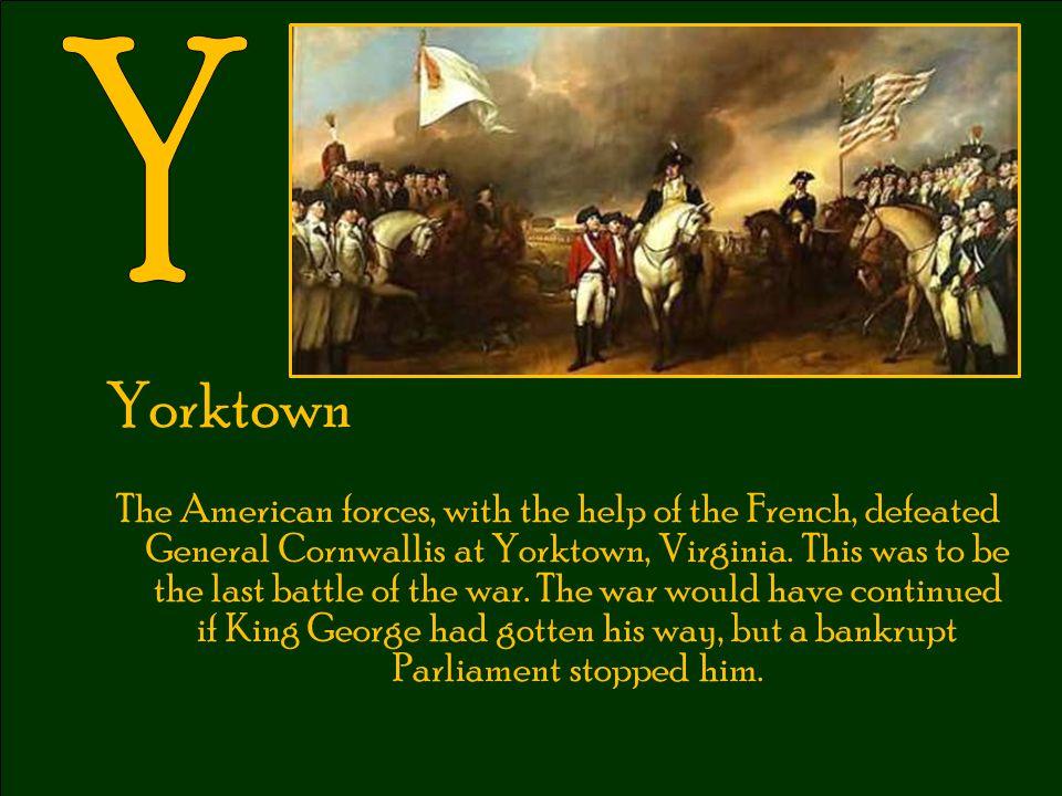 Y Yorktown.