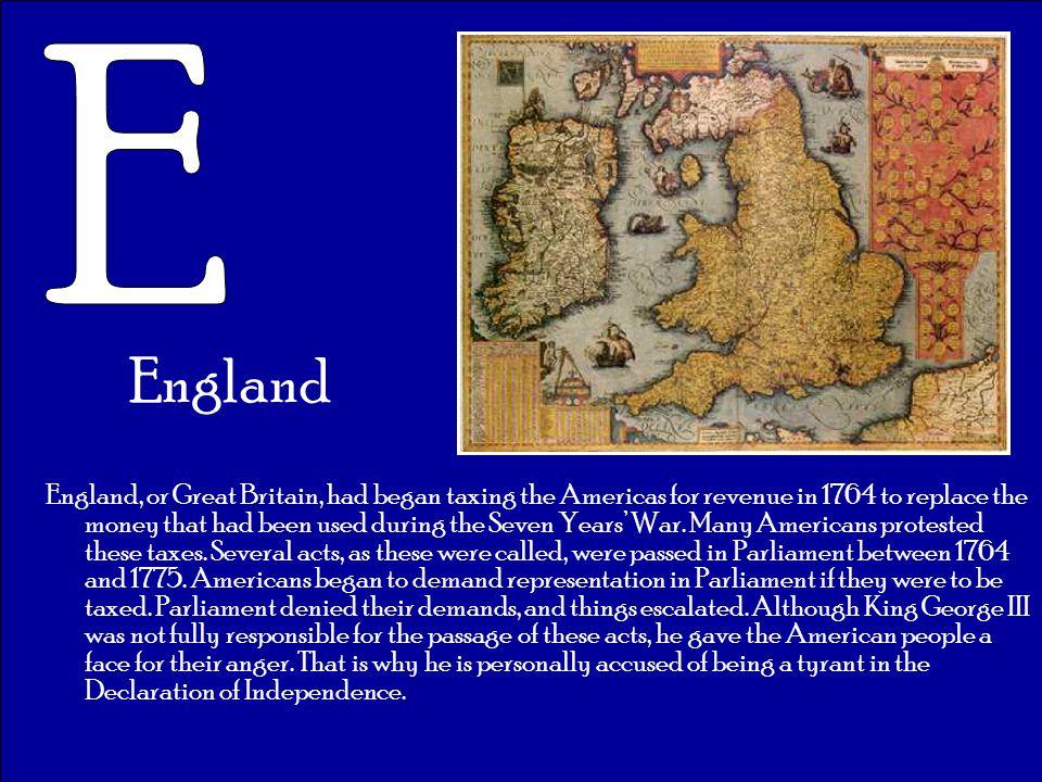 E England.