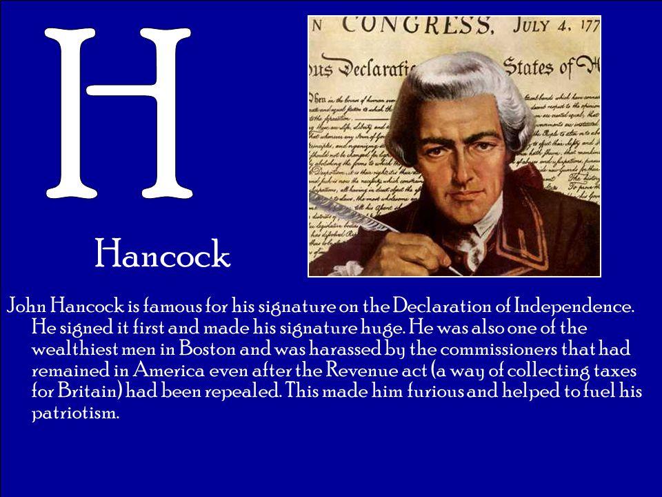 H Hancock.