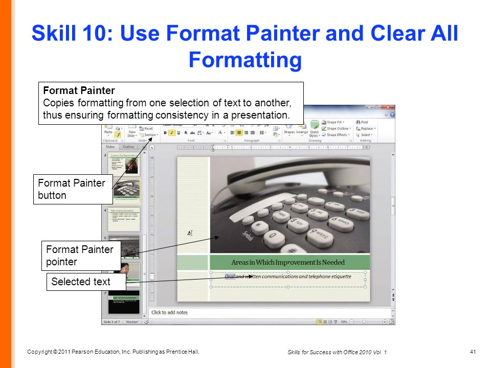 Skill 10: Use Format Painter and Clear All Formatting