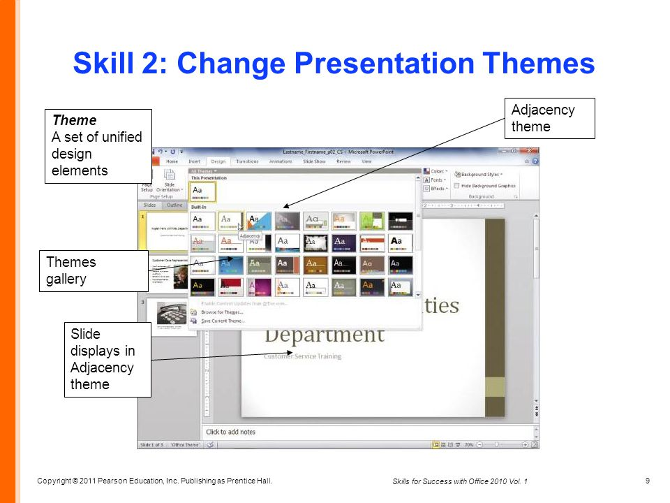 Skill 2: Change Presentation Themes