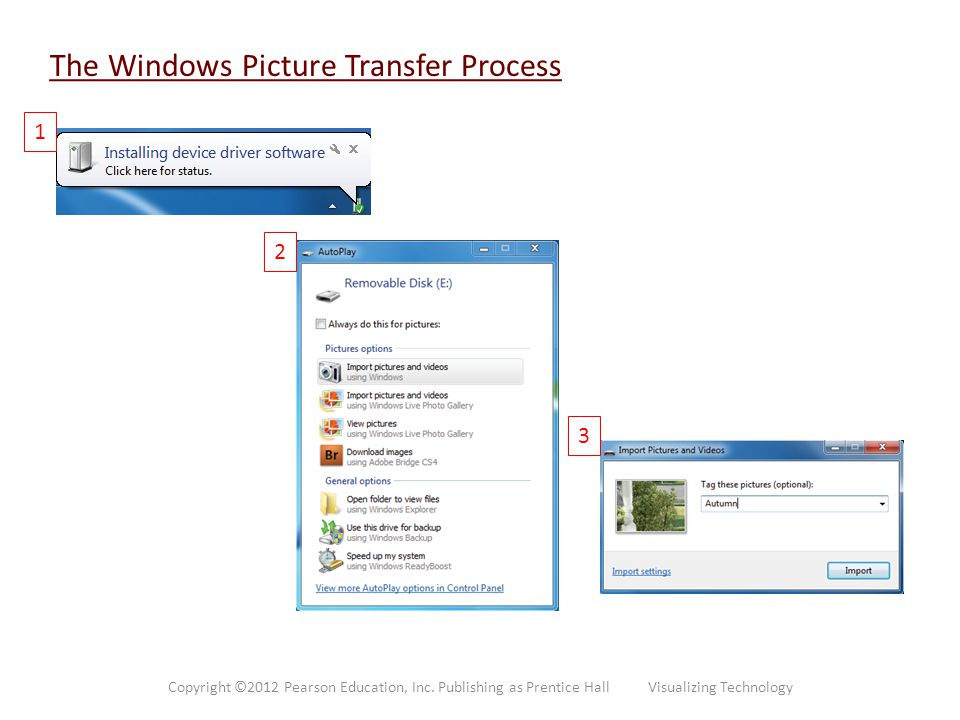 The Windows Picture Transfer Process