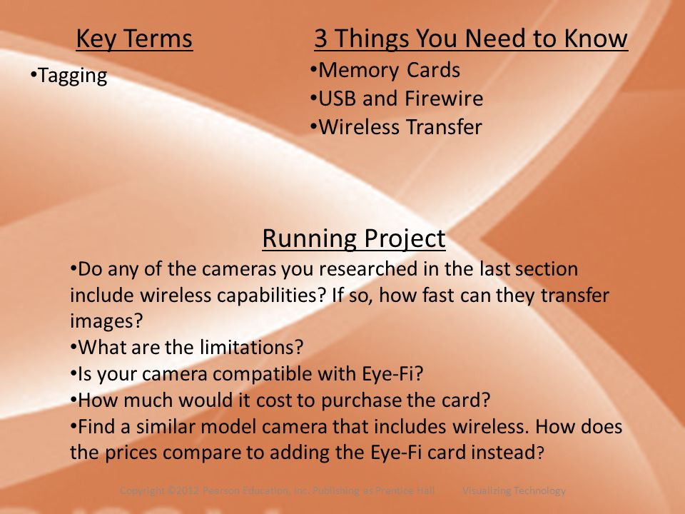 Key Terms 3 Things You Need to Know Running Project Memory Cards