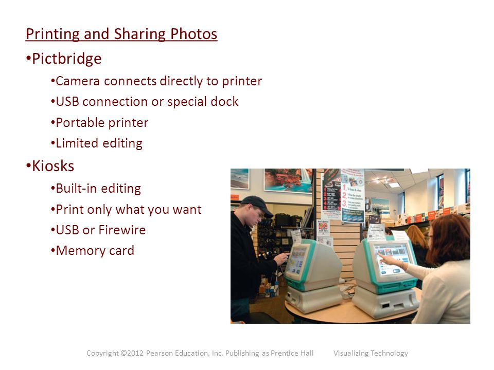 Printing and Sharing Photos Pictbridge