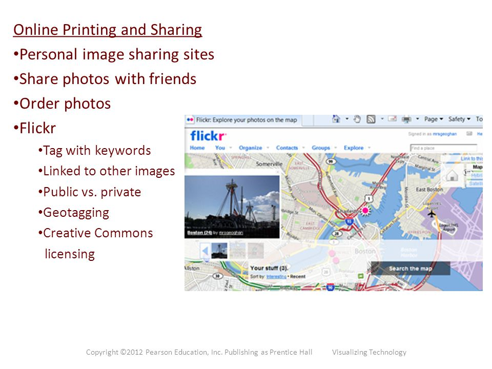 Online Printing and Sharing Personal image sharing sites