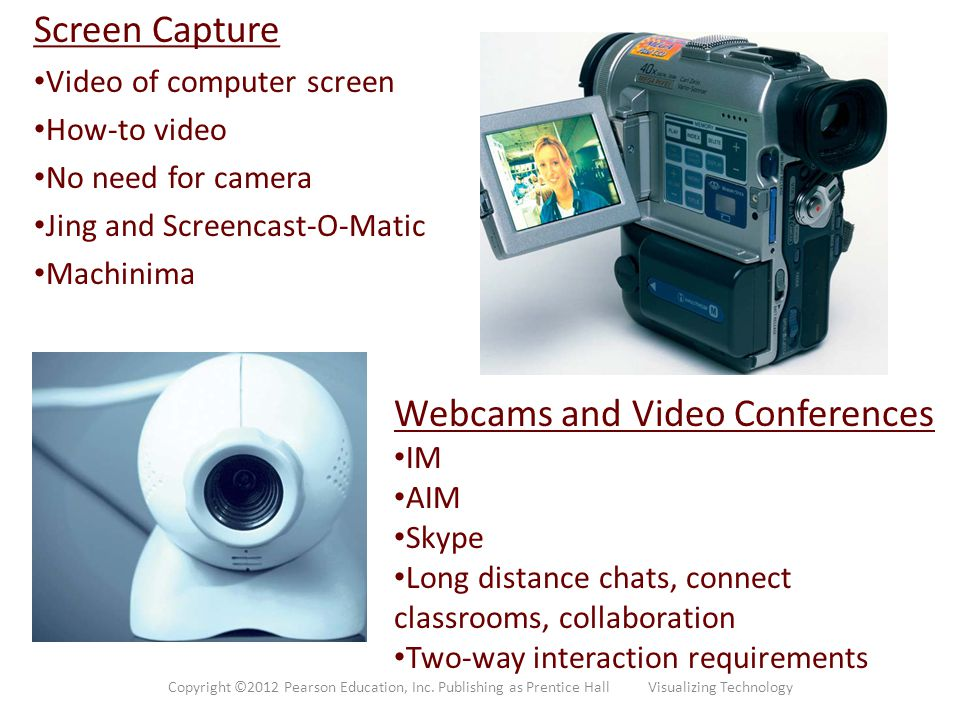 Webcams and Video Conferences