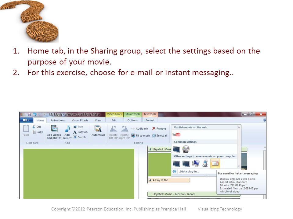 For this exercise, choose for e-mail or instant messaging..