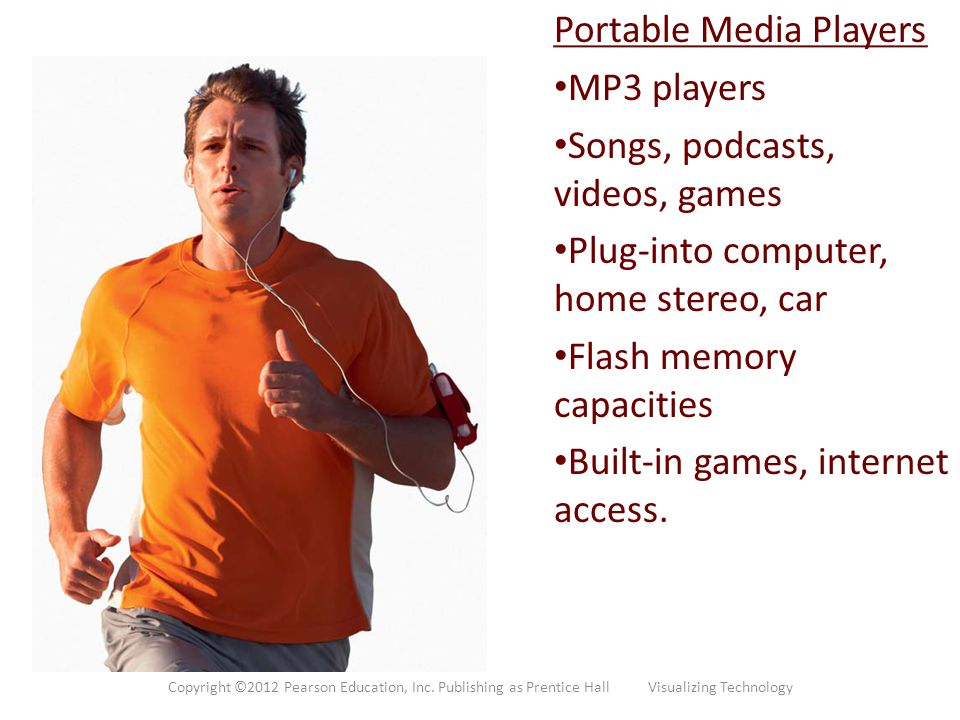 Portable Media Players MP3 players Songs, podcasts, videos, games