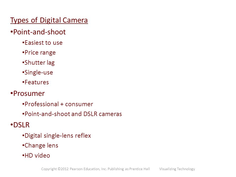 Types of Digital Camera Point-and-shoot