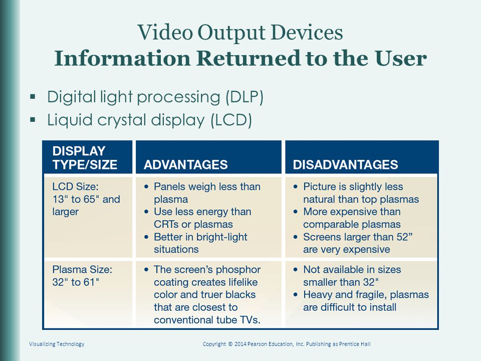 Video Output Devices Information Returned to the User