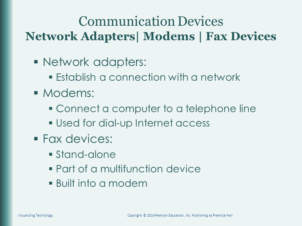 Communication Devices Network Adapters| Modems | Fax Devices