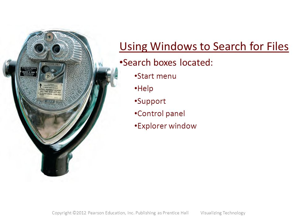 Using Windows to Search for Files