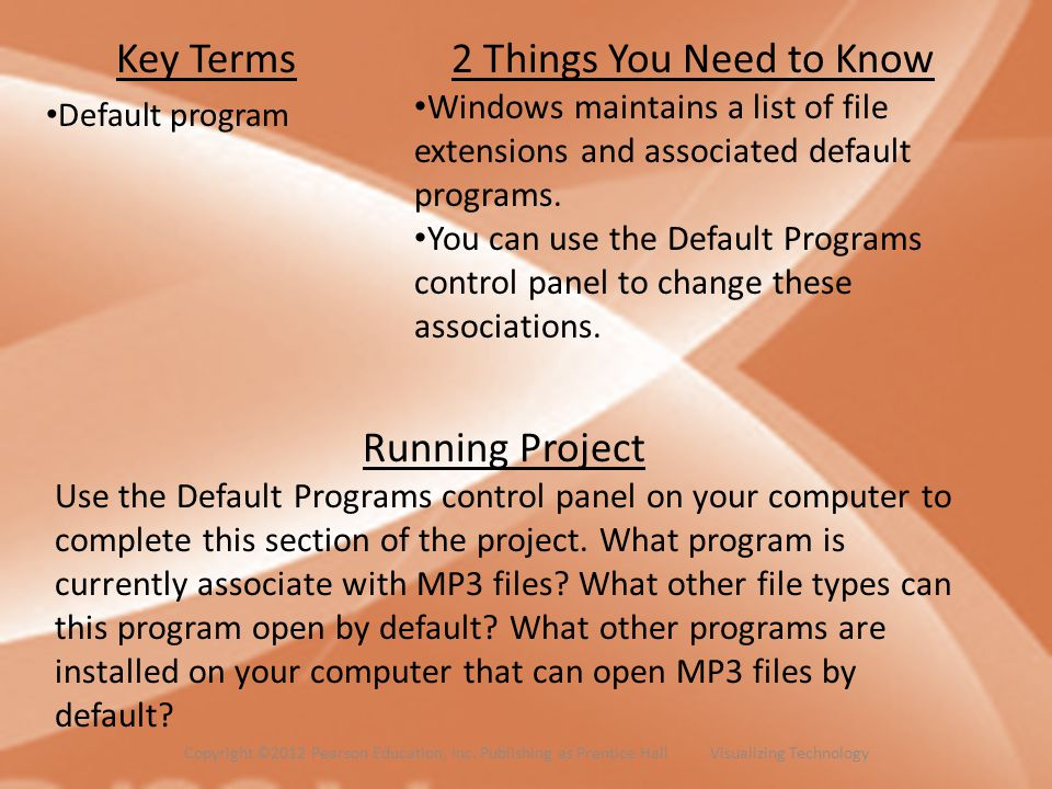 Key Terms Default program