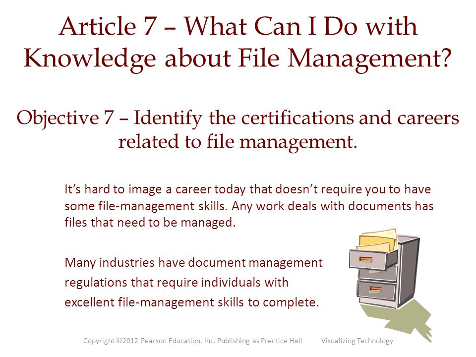 Article 7 – What Can I Do with Knowledge about File Management