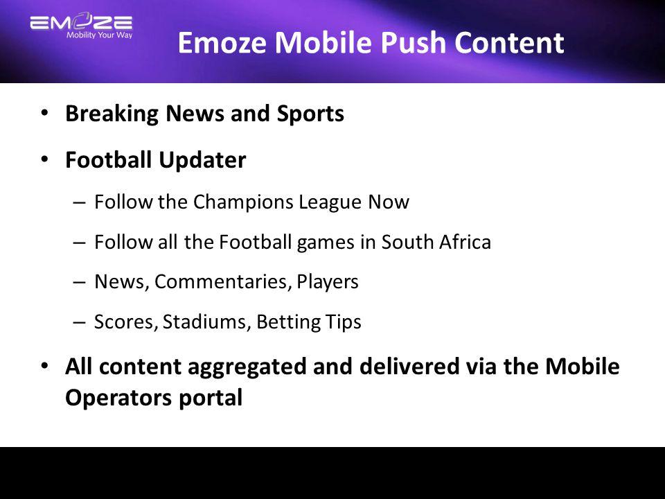 Emoze Mobile Push Content