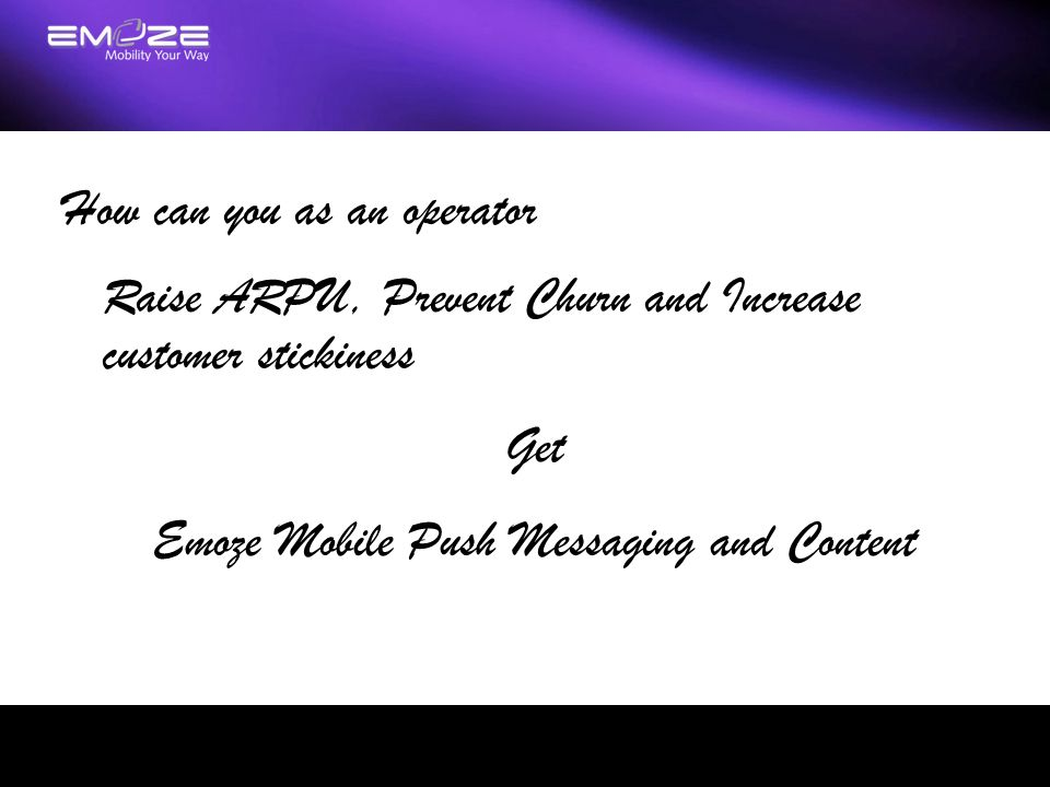 Emoze Mobile Push Messaging and Content
