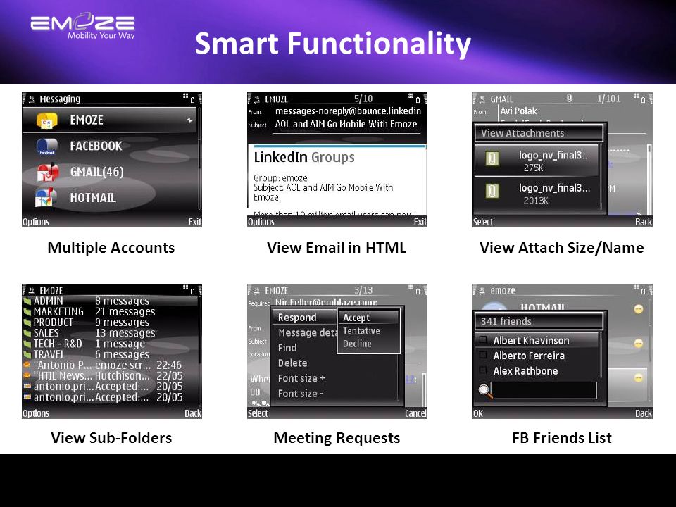 Smart Functionality Multiple Accounts View Email in HTML