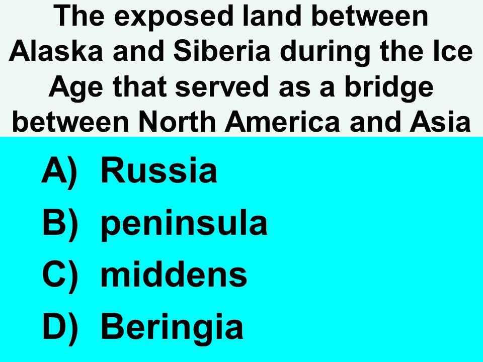 Russia peninsula middens Beringia