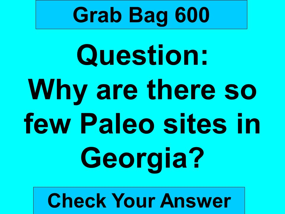 Why are there so few Paleo sites in Georgia