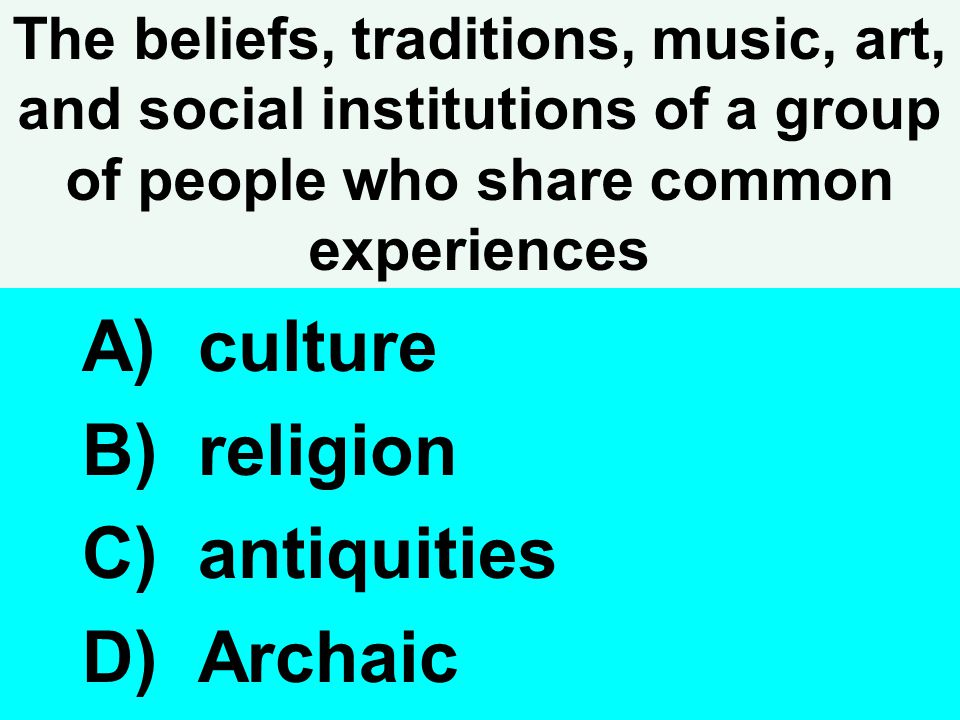 culture religion antiquities Archaic