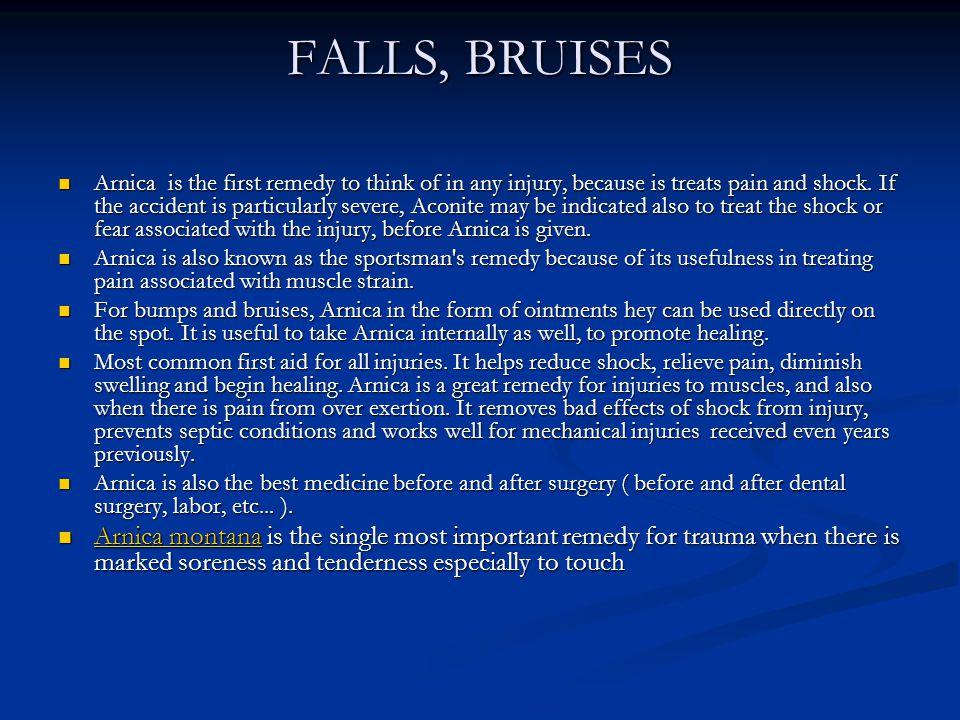 FALLS, BRUISES