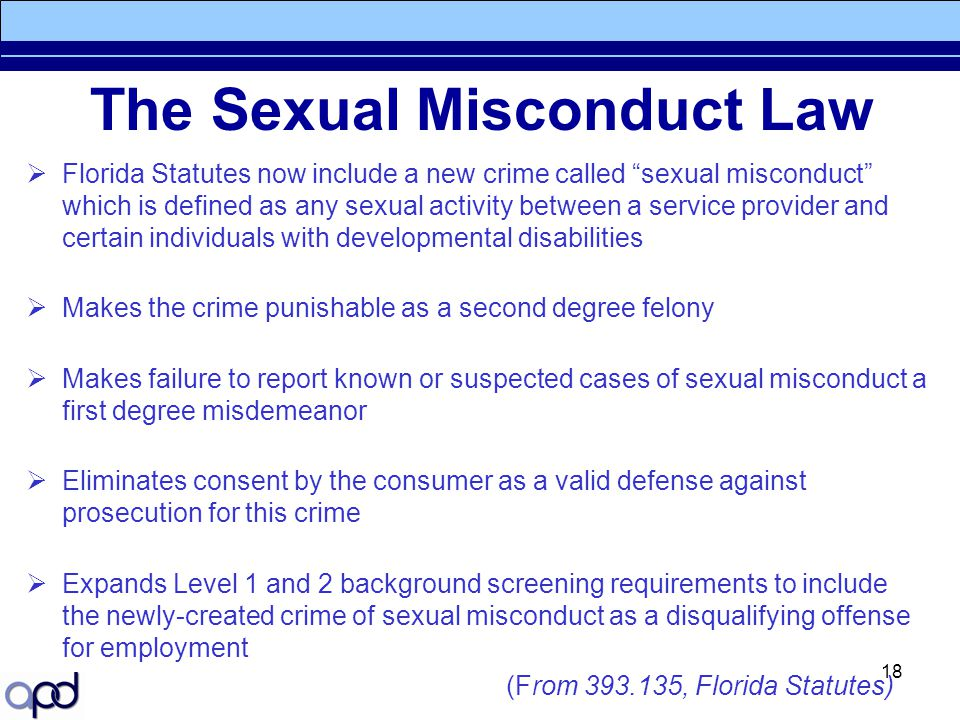 The Sexual Misconduct Law