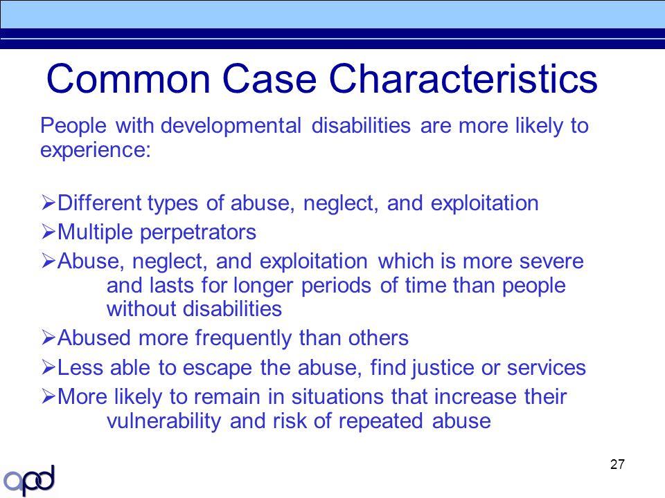 Common Case Characteristics