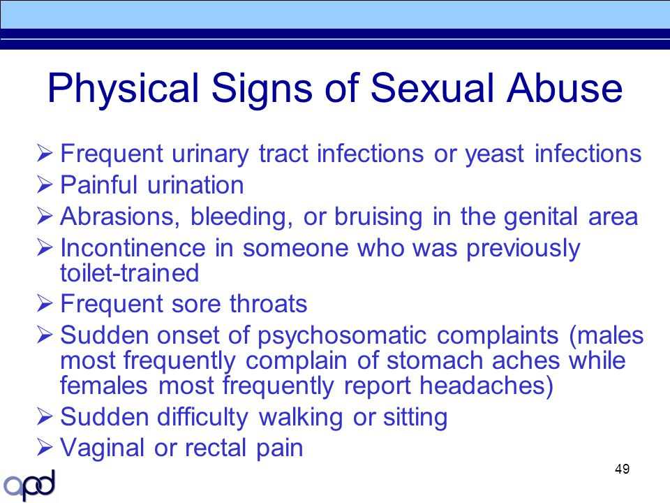 Physical Signs of Sexual Abuse