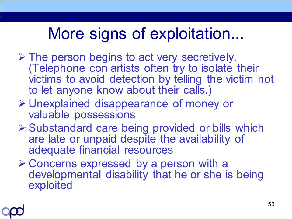 More signs of exploitation...
