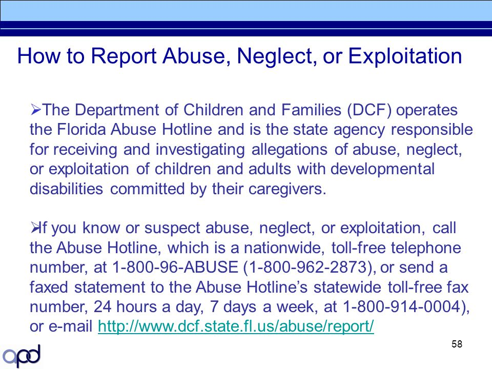 How to Report Abuse, Neglect, or Exploitation