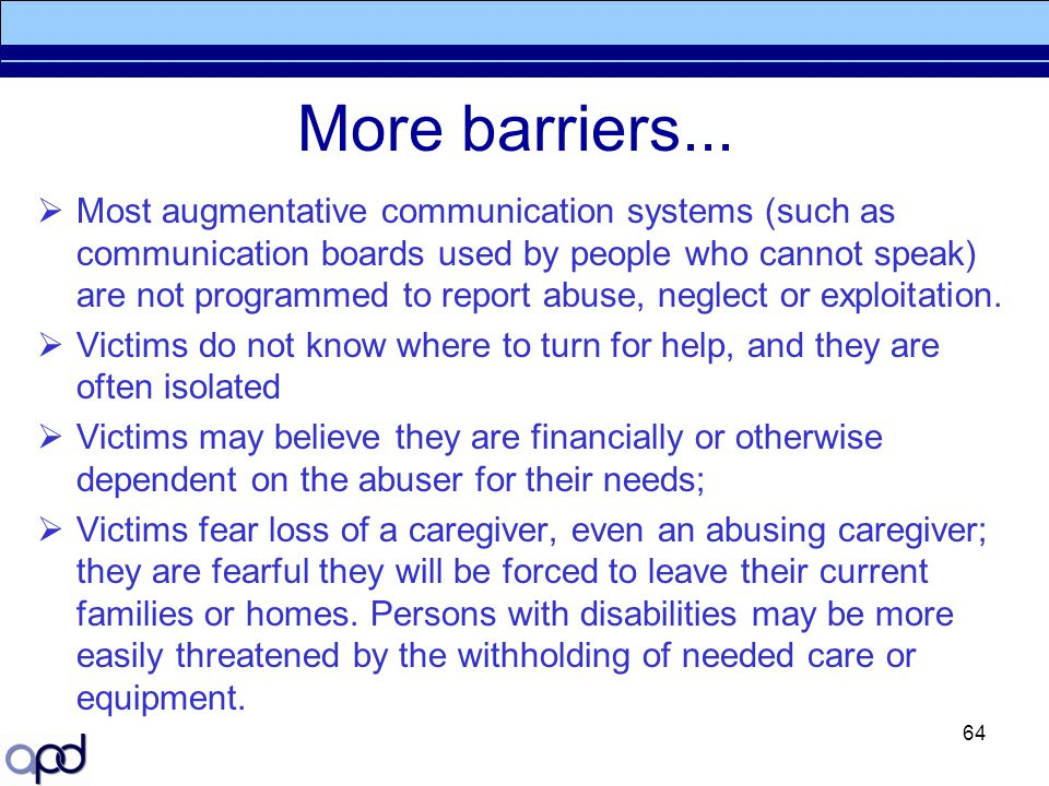 More barriers...