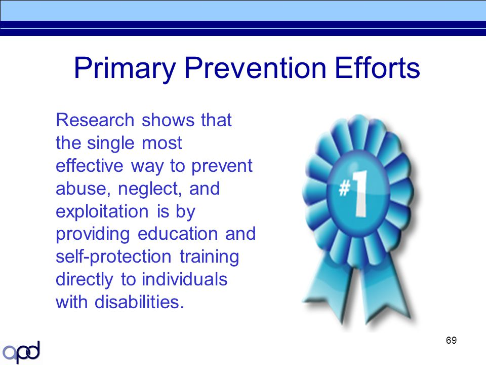 Primary Prevention Efforts