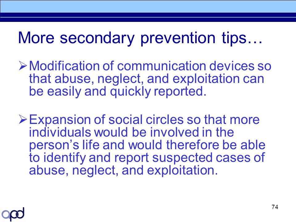 More secondary prevention tips…