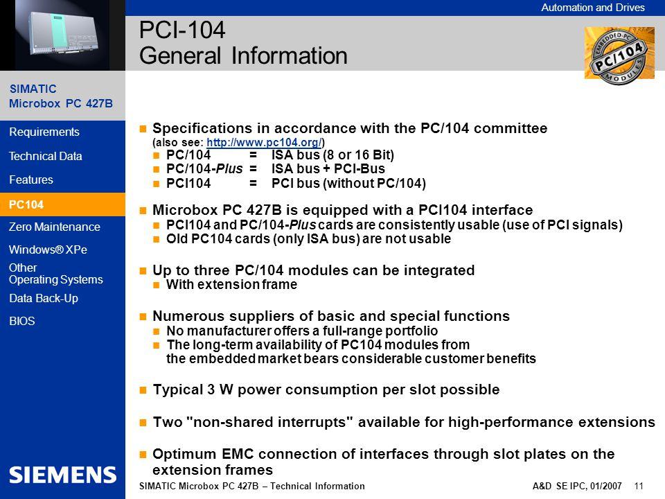 PCI-104 General Information