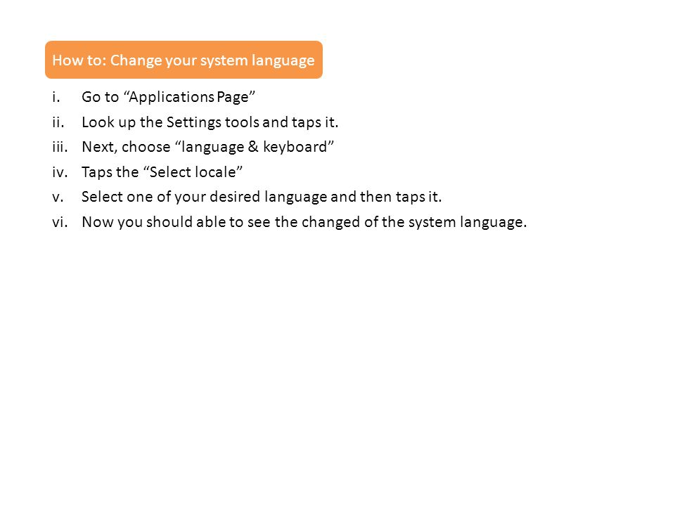 How to: Change your system language