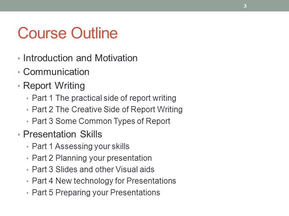 Course Outline Introduction and Motivation Communication