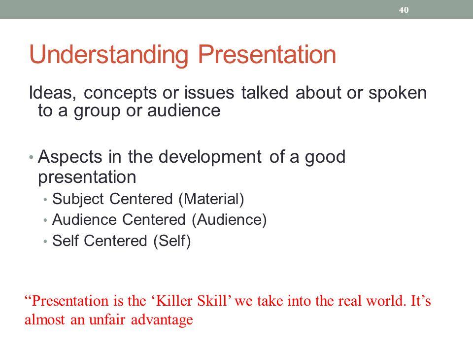 Understanding Presentation